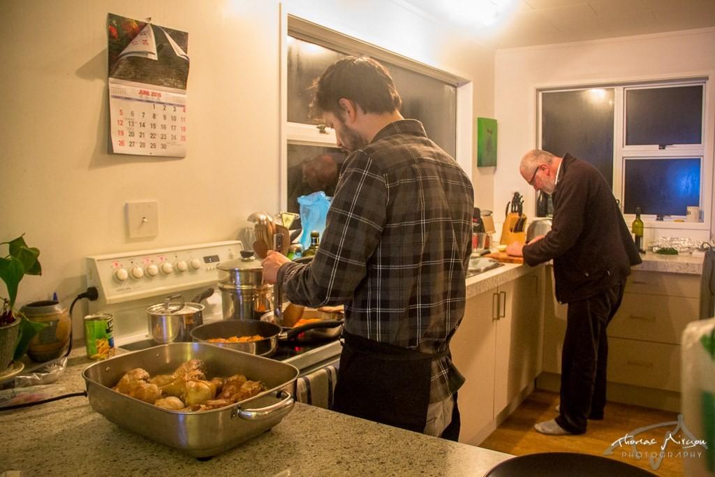 Timi cuisine avec Chris
